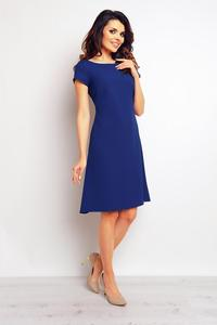 Blue Flared Designe Knee Length Dress