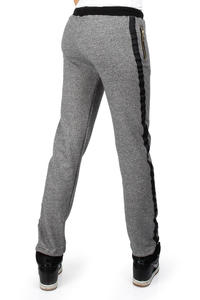 Flecked Dark Grey Pants with Contrast Side Panels