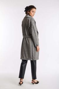 Camel Transitional Checked Coat