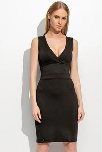 Black Slim Waist V-Neckline Elagant Tube Coctail Dress