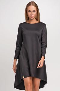 Black Asymetrical Casual Dress