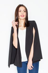 Black Stylish Blazer-Poncho