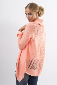 Apricot Ajure Cardigan with Asymetrical Lapels