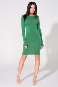 Green Bodycon Open Back Dress