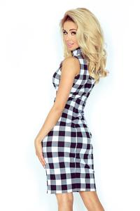 Bodycon Tourtleneck Checkered Dress