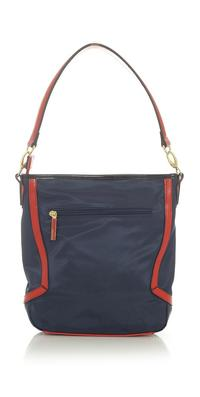 Dark Blue Casual Hand/Shoulder Bag with Contrasting Details