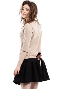 Black Frilled Mini Skirt