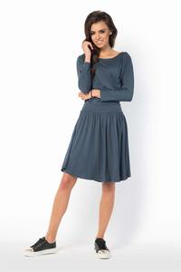 Black Casual Scoop Neckline Dress