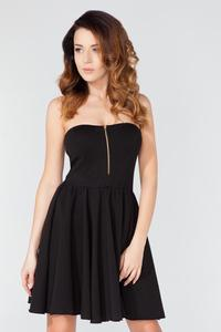 Black Off Shoulders Party Dress with a Zip
