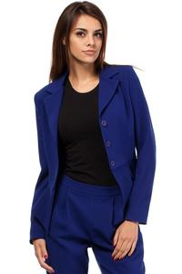 Blue Short Elegant Peplum Ladies Blazer
