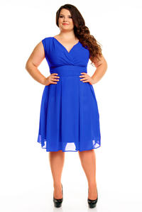 Cornflower Blue Elegant Evening Romantic Party Dress PLUS SIZE