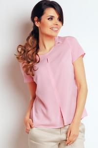 Light Pink Summer Short Sleeves Blouse