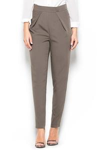 Olive Green Tapered Legs High Rise Pants