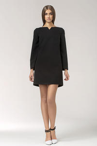 Black High Fashion Mini Shift Dress