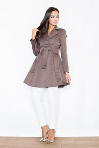 Brown Doublebreasted Elegant Trench Coat