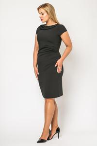 Black Elegant Knee Length Evening Dress PLUS SIZE