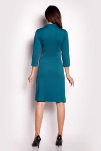 Green Wrap Belted Dress