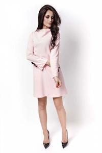 Powder Pink Flared Mini Dress with Bows