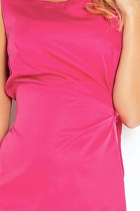 Raspberry Pink Simple Coctail Dress with Sash at The Back
