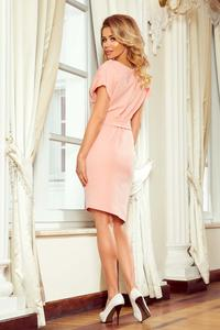 Peach Asymmetrical Dress with Belt