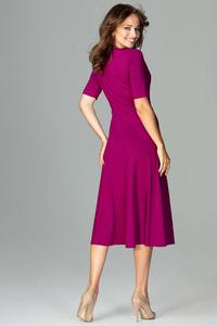 Midi Fuchsia Dress with Elegant V Next