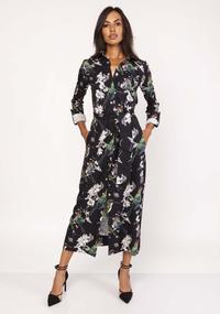 Maxi Dress With Print Birds
