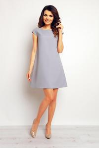 Grey Flared Mini Dress