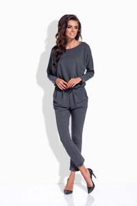 Dark Grey Bat Sleeves Jumpsuit