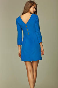 Blue Straight Cut Executive Mini Dress