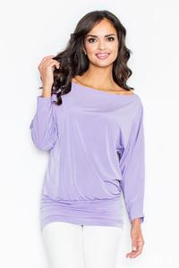 Purple Loose Bat Long Sleeves Blouse