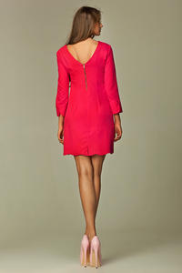 Pink Straight Cut Executive Mini Dress
