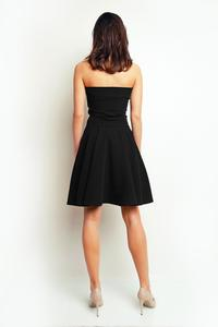 Black Bandeau Coctail Knee Length Dress