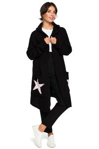 Long Cardigan without Clasp (Black Powder)