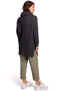 Women's Oversize Turtleneck Sweater - Anthracite