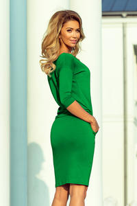 Green Sports Dress Drawstring Waist