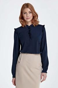 Dark Blue Shirt with Frills