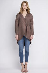 Brown Thin Suede Stylish Jacket