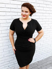 Wrap Around Black Dress Plus Size