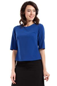Blue Classic 1/2 Sleeves Blouse