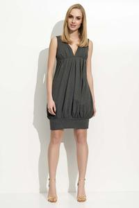 Dark Grey V-Neckilne Mini Dress