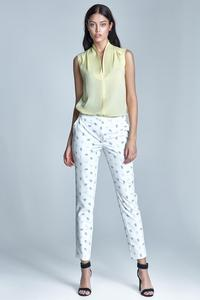 Ecru&Beige Office Style Cigarette Trousers