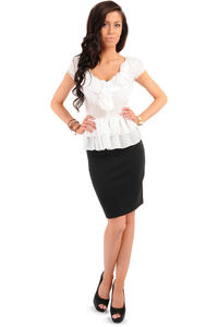 Black Bodycon Pencil Mini Skirt