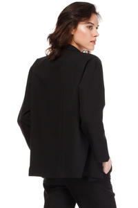 Black Loose Fit Classic Style Blazer