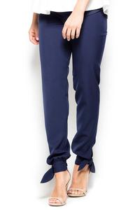 Dark Blue Long Pants with a Bow