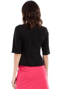 Black Classic 1/2 Sleeves Blouse