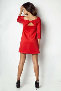 Red Mini Dress with Bow at The Back