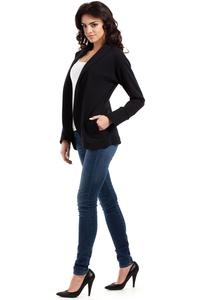 Black Loose Lapels Blazer