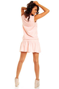 Pink Teen Heart Smock Hip Dress
