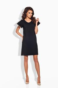 Black Coctail Butterfly Sleeves Dress