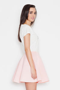 Pink Light Pleates High Waist Mini Skirt